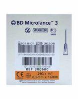 BD MICROLANCE 3, G25 5/8, 0,5 mm x 16 mm, orange