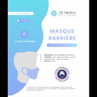 Masque barrière non médical Adulte Blancs B/6